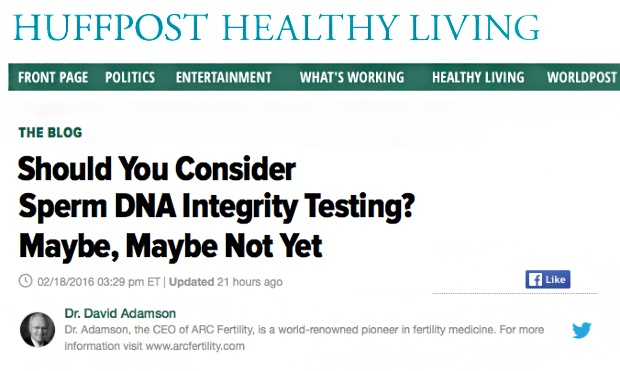 Should You Consider Sperm DNA Integrity Testing? Maybe, Maybe Not Yet