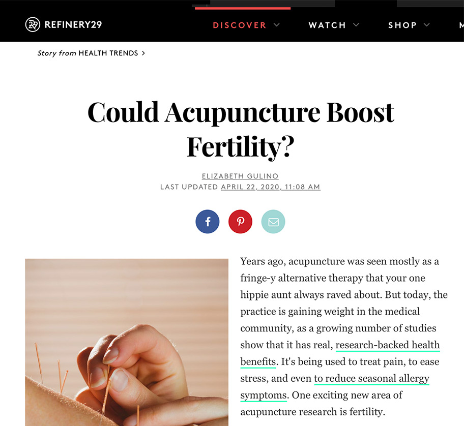 Could Acupuncture Boost Fertility?