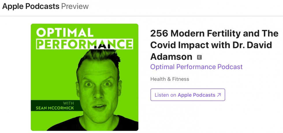 256 Modern Fertility and The Covid Impact with Dr. David Adamson